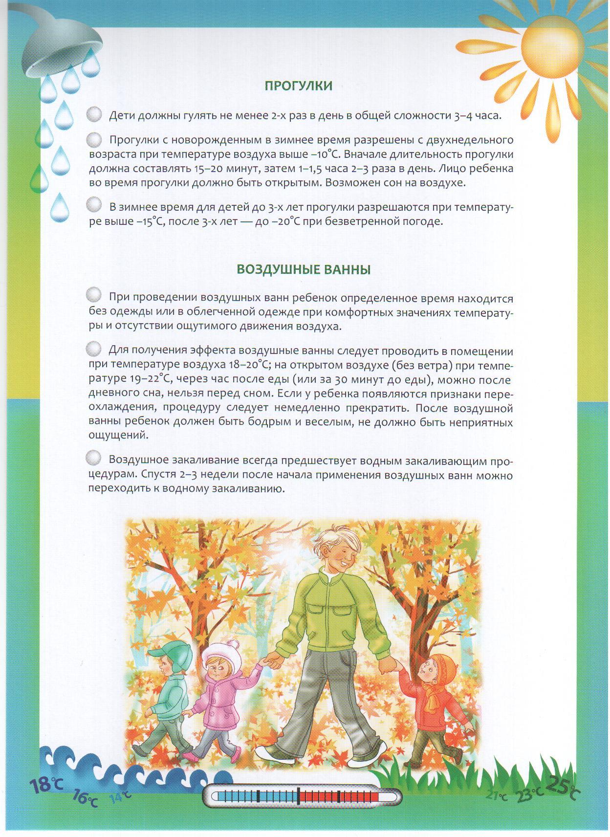 Схемы закаливания дошкольников
